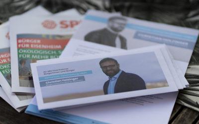 Infobroschüre und Anschreiben des BGM-Kandidaten sind fertig